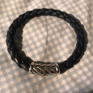 Men's blue rubber David Yurmin bracelet